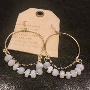 NWT Love Draped Hoop Drop Earrings